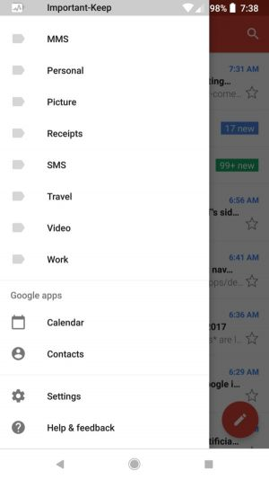 Gmail 7.11 Brings Shortcut Menu & Light Navbar To Android