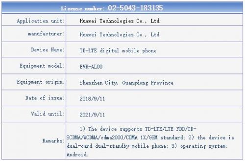 Seven Huawei Mate 20 Variants Seemingly Approved By TENAA