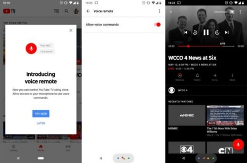 YouTube TV 'Voice Remote' Feature Rolling Out For Some Users