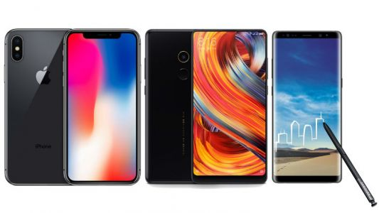 IPhone X vs Samsung Galaxy Note 8 vs Mi Mix 2
