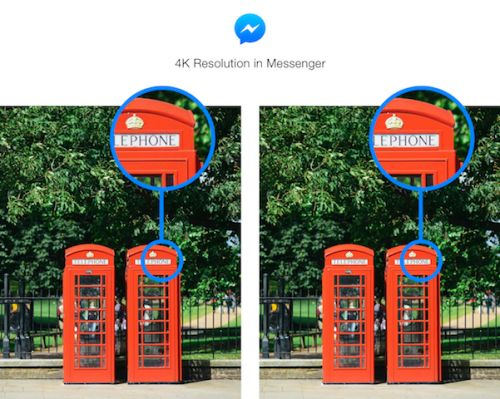 Facebook Messenger Gets Support For Up To 4K Resolution Photos