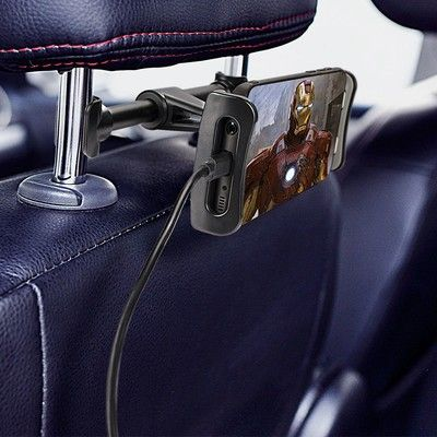 This $8 headrest mount can help entertain everyone in the back seat