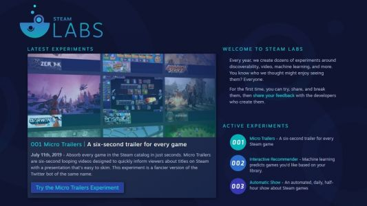 Steam Store's experimental new features to help you find your next favorite game