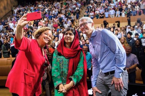 Apple Hosts Nobel Prize Laureate Malala Yousafzai for Talk at Apple Park
