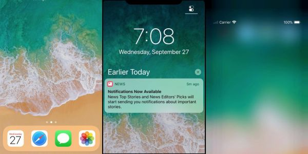 New betas show off iPhone X lock screen and home screen experience