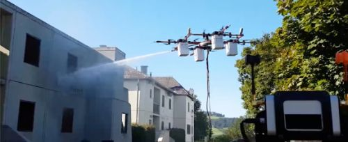 DJI R&D head dreams of drones fighting fires by the thousands in 'aerial aqueduct'