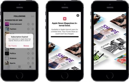 Hints of Magazine Subscription Service Spotted in Apple News in iOS 12.2 Beta