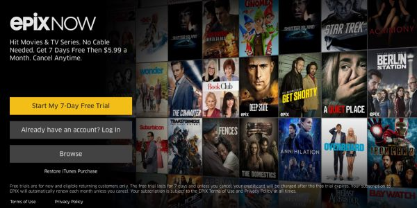 EPIX launches standalone streaming service 'NOW', available on iOS and Apple TV with exclusive original content