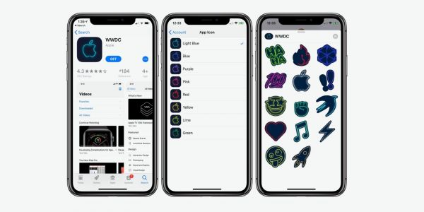 WWDC iOS app updated with customizable neon icons and new stickers