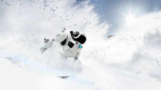 Robot skiers hold their own Winter Olympics, mostly crash