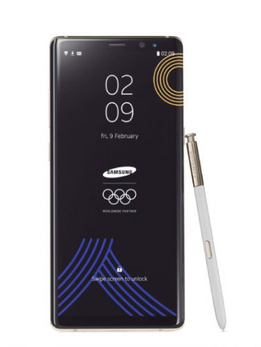 Samsung Outs A 2018 Winter Olympics Edition Of Galaxy Note 8