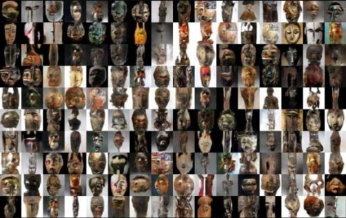 A researcher trained AI to generate Africa masks