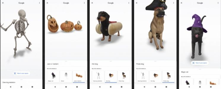Google brings Halloween-themed goodies to 3D AR collection