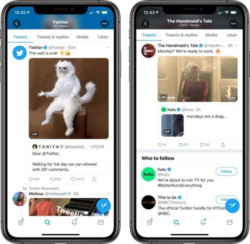 Photos, Videos, and GIFs Can Now Be Added to Retweets on Twitter