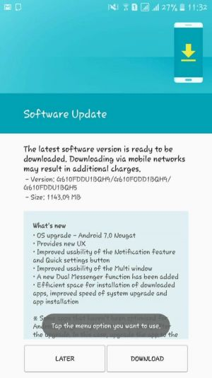 Samsung Galaxy J7 Prime Now Getting Android Nougat In India