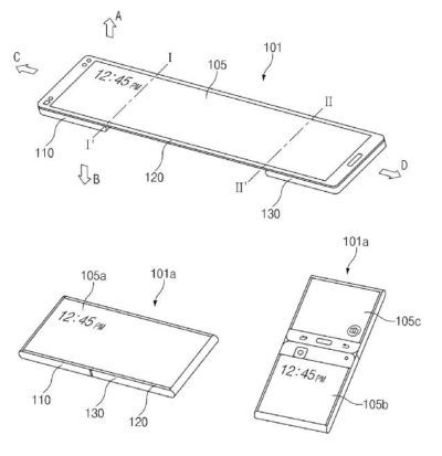 Samsung Obtains Patent For A Flexible Screen-Enabled Device