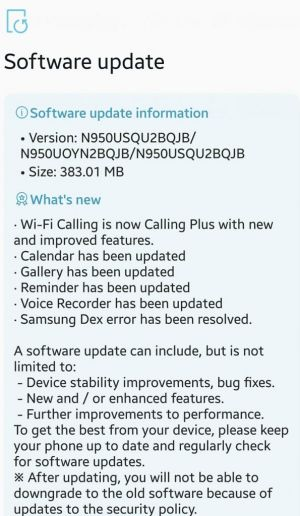 Wi-Fi Calling comes to the Sprint Galaxy Note 8
