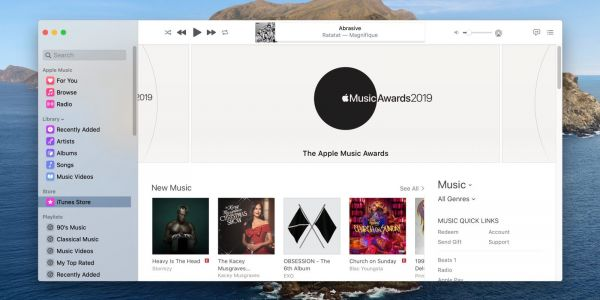 MacOS Catalina: How to show the iTunes Store in the Music app