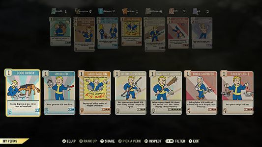 Fallout 76 Detailed Perk Cards Guide