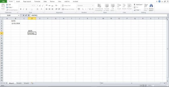 How To Enter Time And Date In Excel