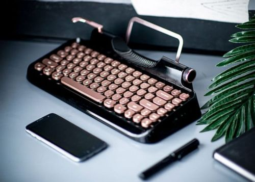 Rymek Retro Styled Bluetooth Wireless Mechanical Keyboard