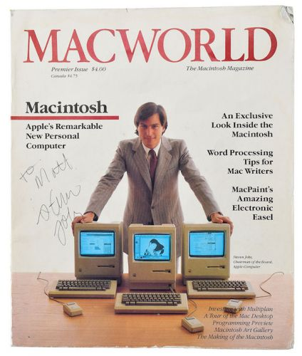Premiere Issue of Macworld Magazine Autographed by Steve Jobs Headed to Auction