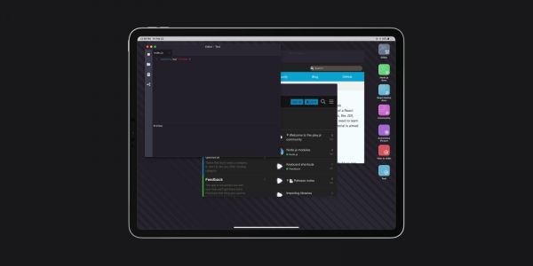 Play.js implements a Mac-like desktop experience on iPad, but could be pulled