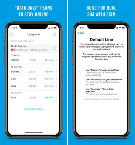 GigSky Announces eSIM Support for iPhone XS, XS Max, and XR