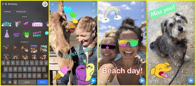 Snapchat introduces GIF stickers, tabs for Friends and Discover screens