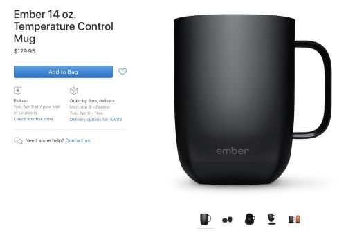 Ember Launches Larger Capacity 14oz Ceramic Mug, Available from Apple