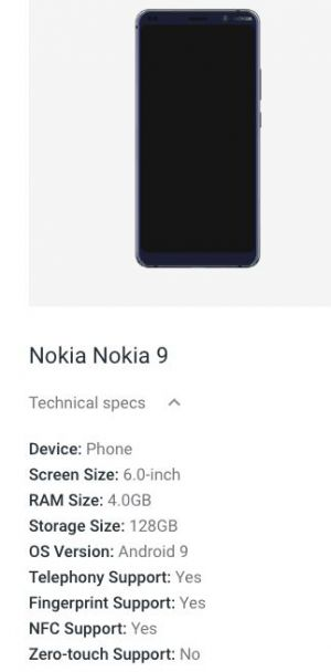 Many Of Nokia 9 PureView Specs Confirmed By Android Enterprise Site
