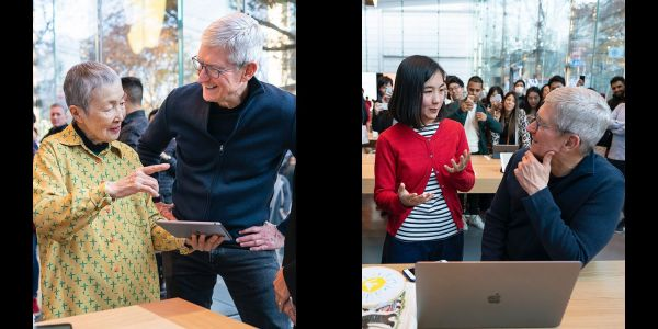 Tim Cook is in Japan, meeting app developers aged 13 to 84
