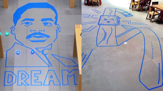 Sphero maze art adds a creative twist to a favorite Apple store session
