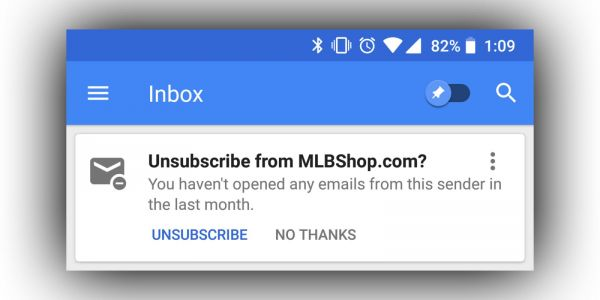 Google's Inbox makes it easy to unsubscribe from email lists you don't read