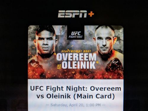 Here's how to watch Overeem-Oleinik on UFC Fight Night on April 20 on ESPN+