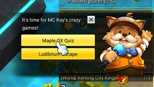 MapleStory 2 OX Quiz Answer Cheat Sheet
