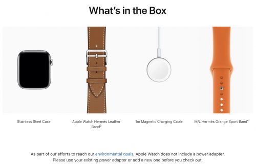 Apple Removes 5W Power Adapter From Apple Watch Edition and Apple Watch Hermès