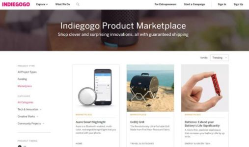 Indiegogo Launches Marketplace For Successfully-Funded Projects