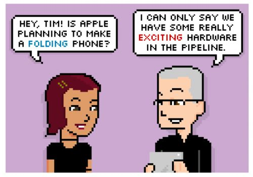 Comic: Is There a Folding iPhone in the Pipeline?