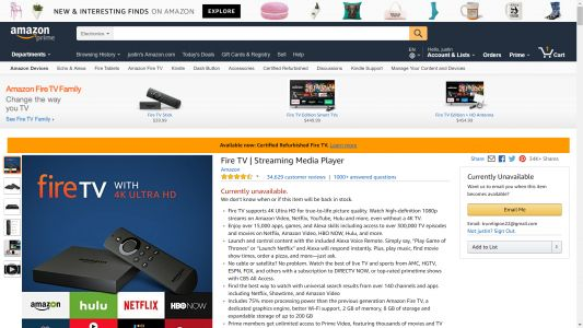Amazon Fire TV disappears from Amazon, new models expected