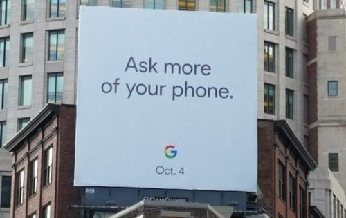 Giant Google Billboard Hints At Pixel 2 Event For October 4