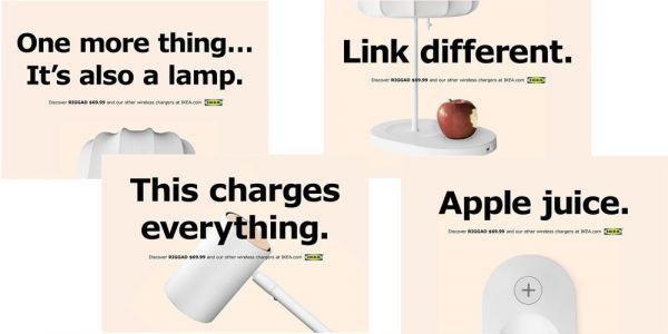 IKEA riffs on Apple slogans to promote furniture with built-in wireless charging