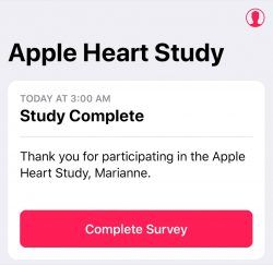 Apple Heart Study Ends for Some Early Participants Ahead of January Completion Date