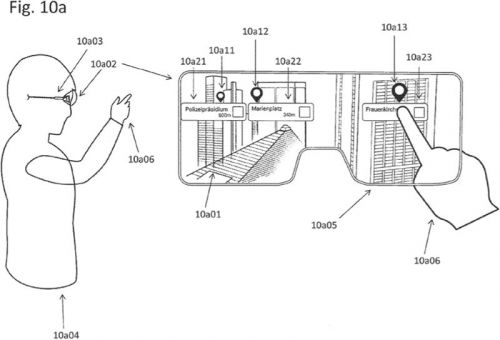 Apple Outlines How Augmented Reality Glasses Could Overlay Points of Interest