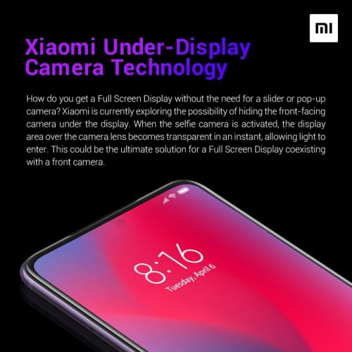 Get ready for under-display smartphone cameras