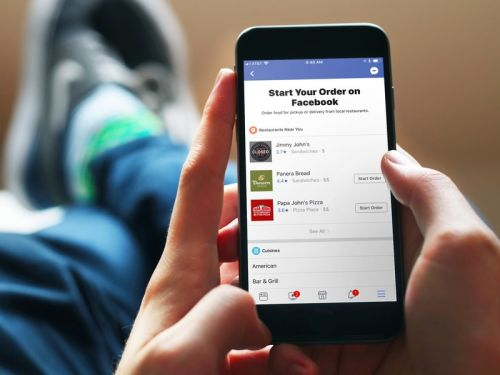 You can now order food on Facebook for some reason
