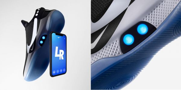 Nike's self-lacing Adapt BB basketball shoes feature iPhone control, customizable LEDs
