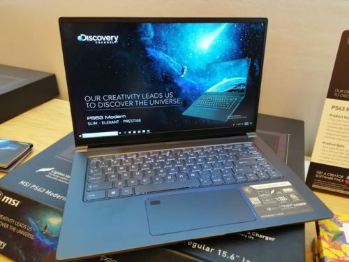 CES 2019: MSI PS63 Modern Notebook, a 15.6-inch with 16 Hours Battery Life