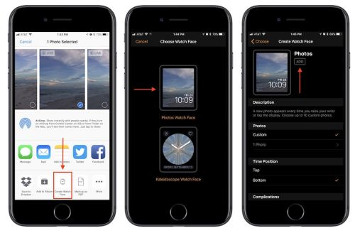 How to Turn a Photo Into an Apple Watch Face in iOS 11 and watchOS 4