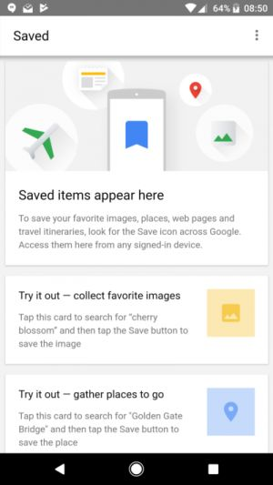 A Saved Button Is Showing Up In The Google App For Some